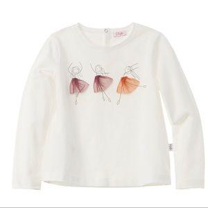 Il Gufo Ballet T-Shirt. Size 3T